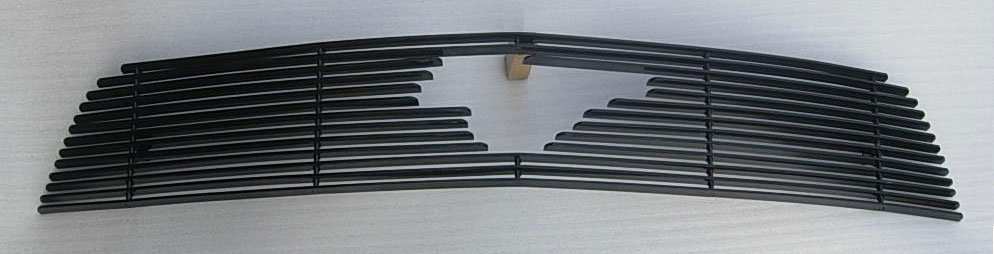 2010-2012 Mustang V6 Upper Billet Grille - With Pony Cut out - BLACK