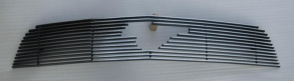 2010-2012 Mustang V6 Upper Billet Grille - With Pony Cut out - CHROME