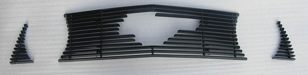 2010-12 Mustang GT 3pc Upper Billet Grille - With Pony Cut out - BLACK
