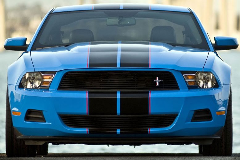 2010-2012 Mustang V6 Upper Billet Grille - No Cut Out for Pony - CHROME