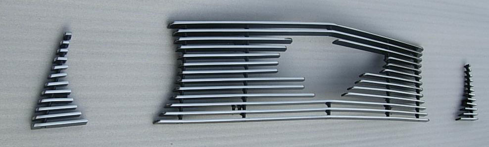 2010-12 Mustang GT 3pc Upper Billet Grille - With Pony Cut out - CHROME