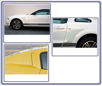 2010-2012 Mustang V6 Xenon 13pc Front, Rear, 3pc Wing, Upper & Lower Scoops & Front Fenders Scoops