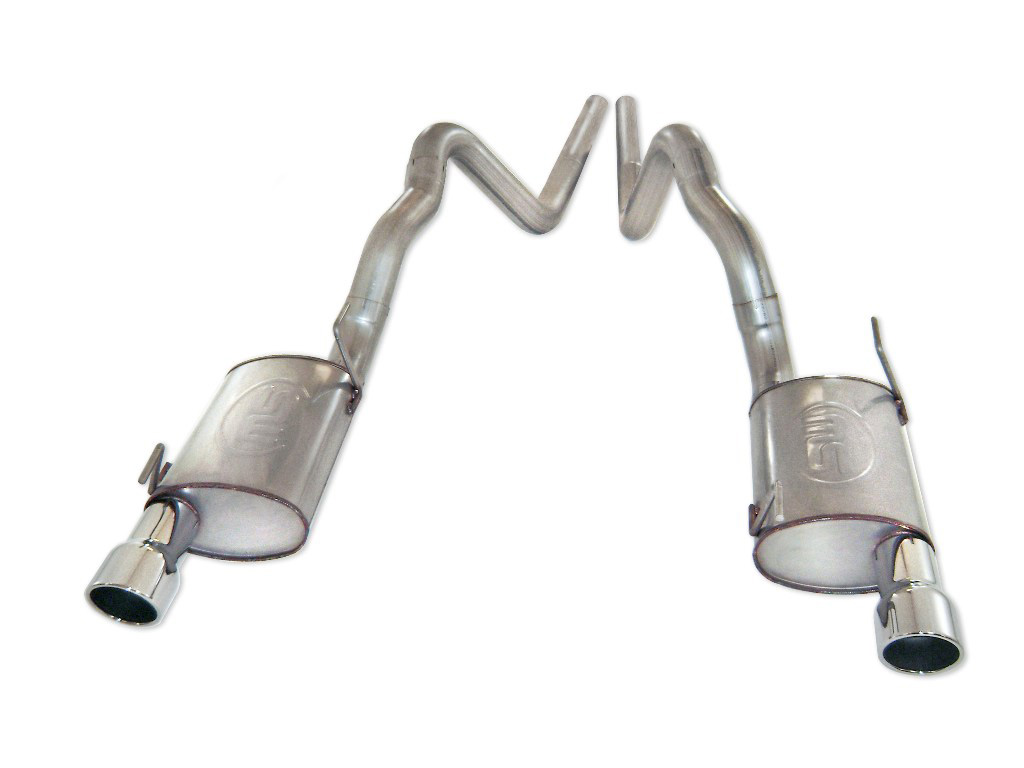 2011-2012 Mustang GT Stainless Works 3 Inch Dual Exhaust Cat Back - Dual Chambered Mufflers