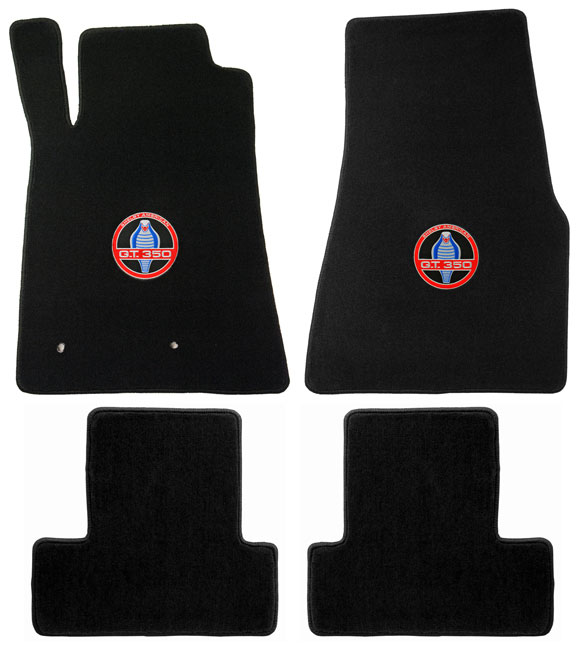 2007-2010 SHELBY Mustang Coupe / Convertible Floor Mats - Red (5 Emblem Options)