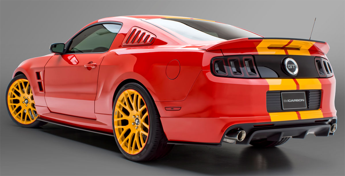 MUSTANG 2013 BOY RACER - 6 PC. KIT - Front Air Dam, R/L Side Skirts, Rear Skirt, 3d500 Spoiler, Window Louvers (PAINT)