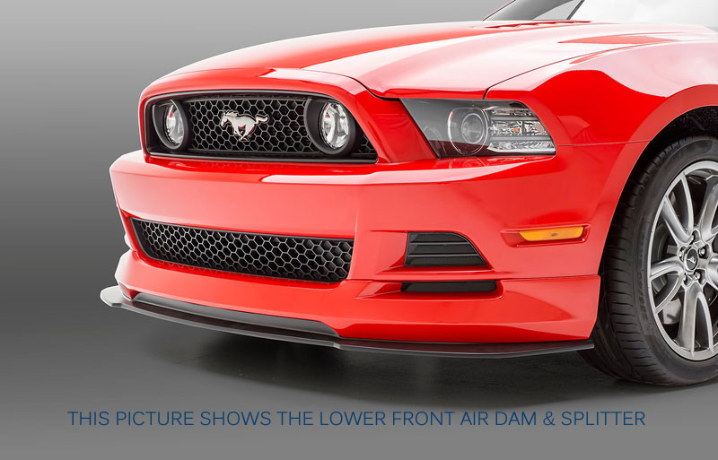 MUSTANG 2013-14 BOY RACER - 9 PC. KIT - Front Air Dam + Splitter, R/L Side Skirt + Splitters, Rear + Splitter (PAINT)