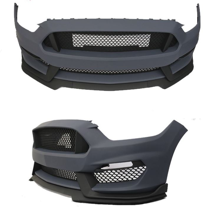 15-17 Mustang GT350 Style Mustang Front bumper with Front lip - Polypropylene Plastic (Fits all models)