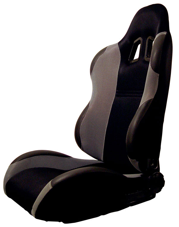 INDY Turino Sport Series Racing Seat Cloth - Black on Grey