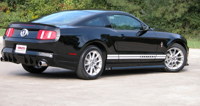 2010-2012 Mustang V6 Razzi Rear Air Dam Kit