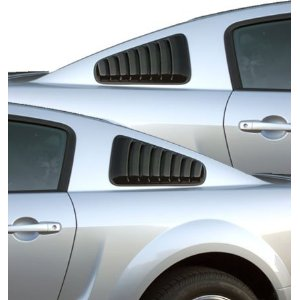 2005-2014 Mustang GT Styling Upper Window Louvers Smoked See-through Plastic