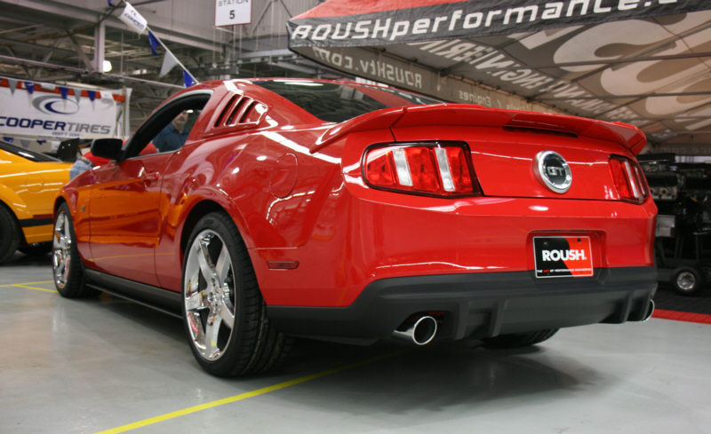 2010-2013 Mustang V6 & GT Roush 3pc Rear Wing (Paint Options)