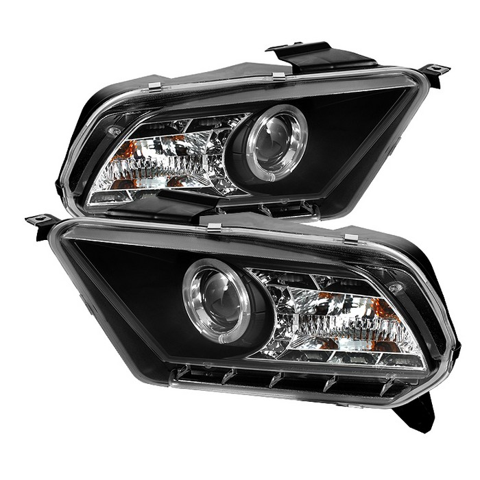 2010-2014 Mustang Headlights PROJECTOR GEN 4 - DRL LED - BLACK