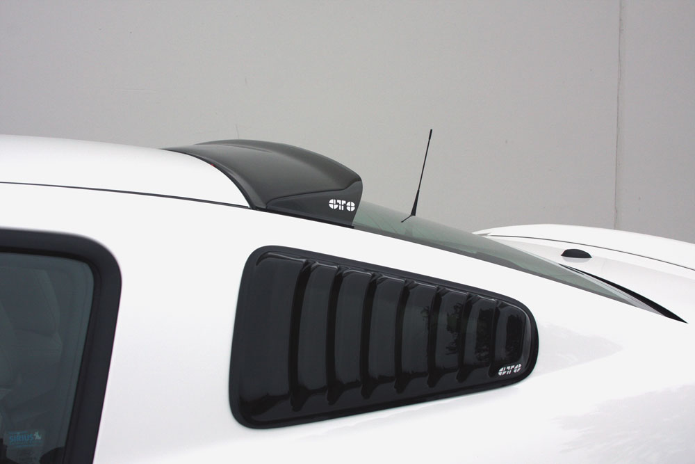 2005-2013 Mustang Rear Solarwing LIP for top of rear window GTS Smoked Lens