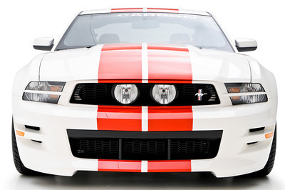 2010-2012 Mustang GT or V6 3d Carbon Boy Racer - Front Bumper Replacement (Paint Options)