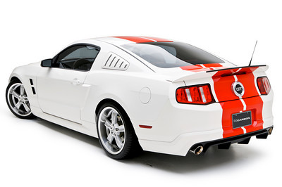 2010-2012 Mustang 3d Carbon Boy Racer - Rear Bumper Skirt V6 or GT (Paint Options)