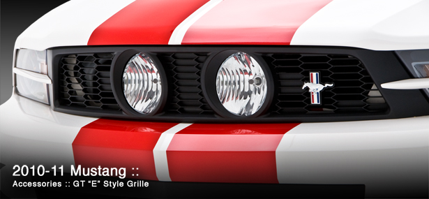 2010-2012 Mustang 3D Carbon GT Center Fog Light Grille GT E-Style