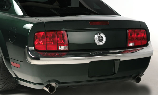 2005-2009 Mustang Retro USA Chrome Rear Bumper Trim - GT & V6 & GT500