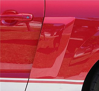 2010-2014 Mustang V6 & GT Street Scene Lower Door Side Scoops (Pair)