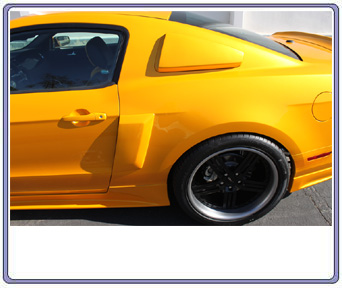 2010-2013 Mustang V6 & GT Street Scene Lower Door Side Scoops (Paint Options)