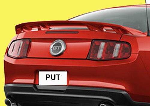 2010-2013 Mustang GT/V6 Spoiler 4 Pedestials (Paint Options)