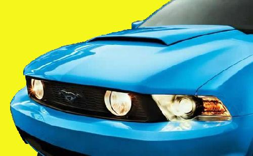2010-2012 Mustang Factory Style Hood Scoop PRIMERED (Paint Options)