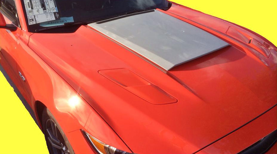 2015-2017 Mustang Factory Style Hood Scoop PRIMERED (Paint Options)