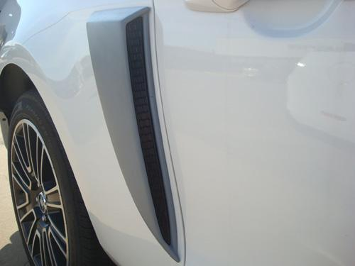 2010-2014 Mustang V6 & GT Lower Side Scoops PRIMERED or (Paint Options)