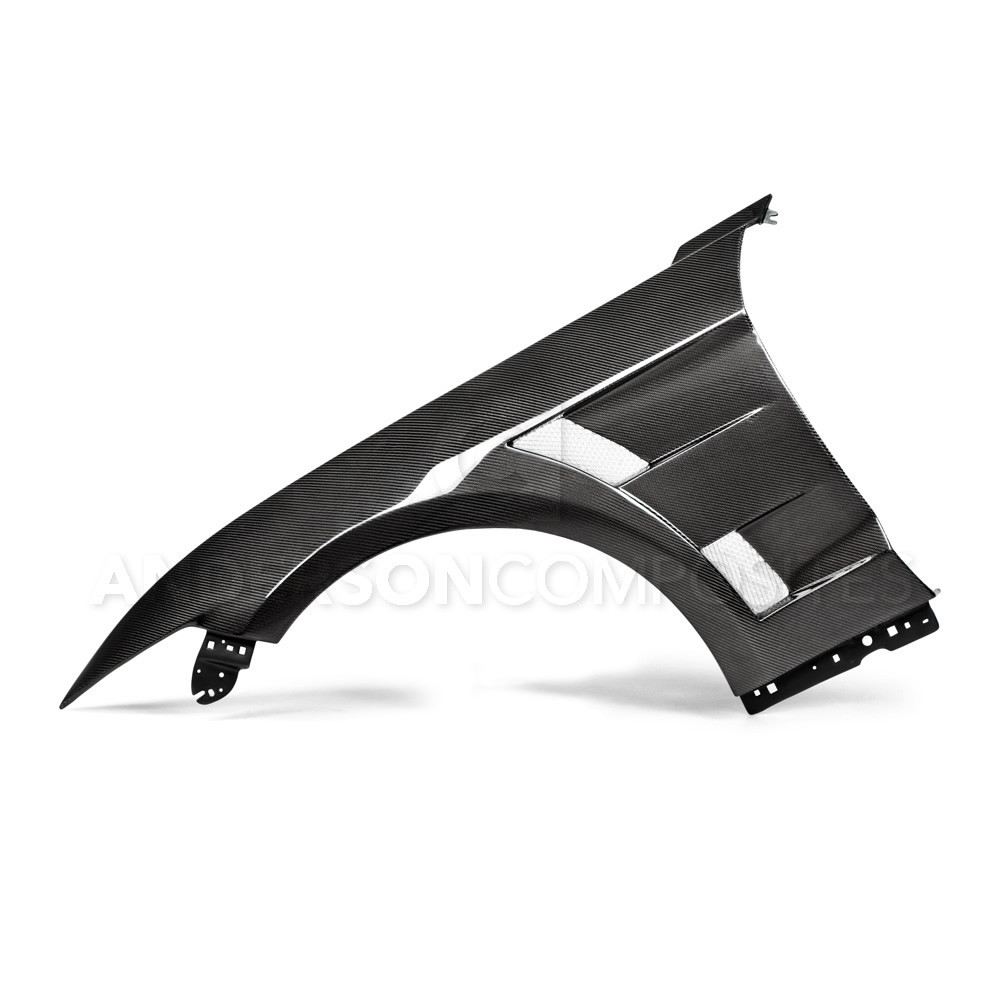 2015-17 Mustang Carbon Fiber Fenders Type-AT - Includes RH and LH Pair (Fits all 15+ Models) CARBON FIBER
