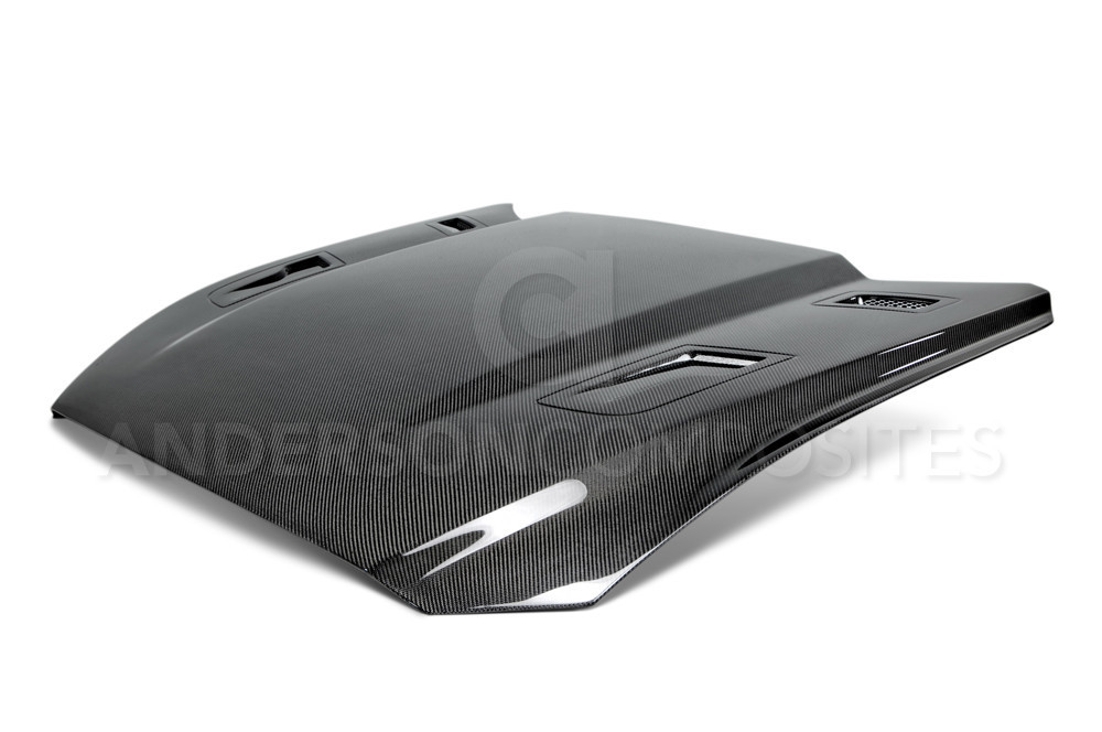 2015-2017 Mustang Carbon Fiber TYPE-GTH Hood (Fits all 15+ Models) CARBON FIBER