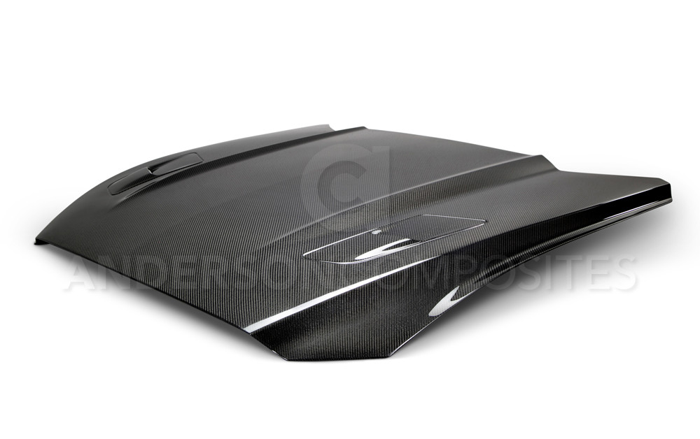 2015-2017 Mustang Carbon Fiber GT Hood (Fits all 15+ Models) CARBON FIBER