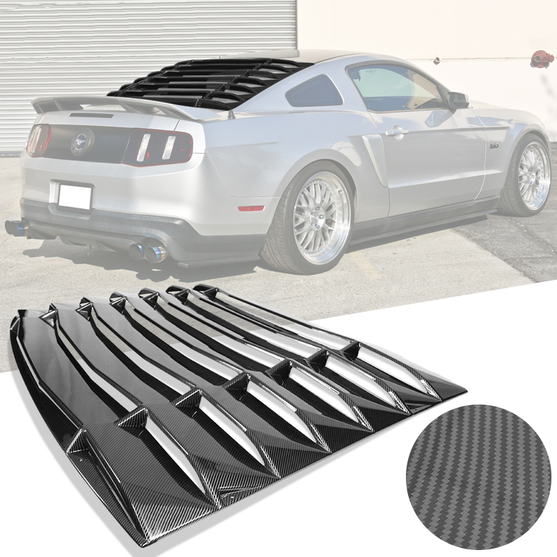 2005-2014 Mustang Rear Window Louver Kit - ABS w/Carbon Fiber Look