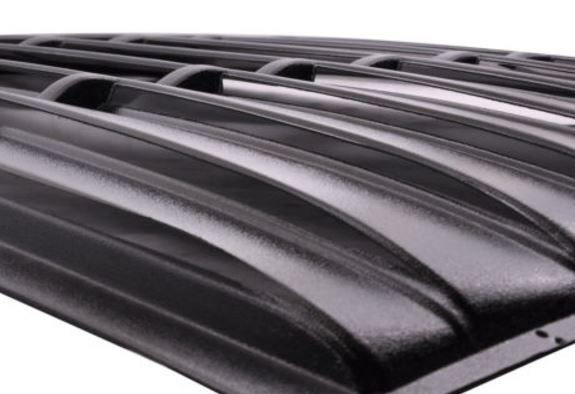2005-2014 Mustang Vintage Style Rear Window Louver Kit - ABS BLACK FINISH
