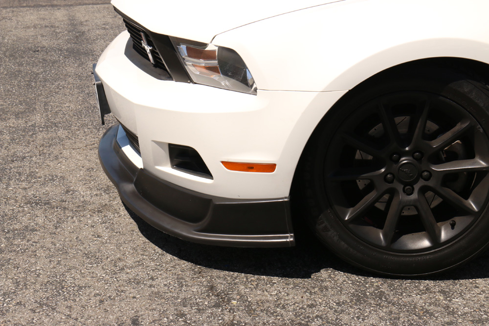 2010-2012 Mustang V6 Front Bumper Lower Lip RT Style - Polyurethane