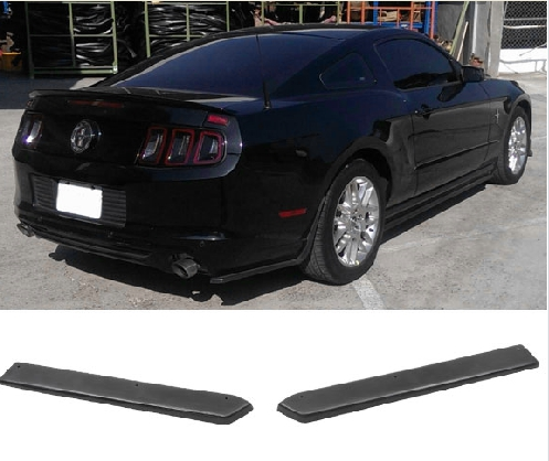 2010-2014 Mustang Bottom-Line Polyurethane Rear Bottom Diffusers- BLACK (PAIR)