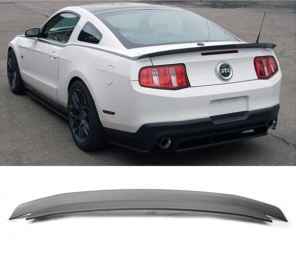 2010-2014 Mustang Type RT Rear Spoiler Wing - ABS Plastic CARBON FIBER