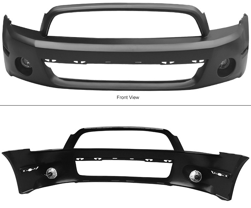 2010-2014 Mustang GT500 Style Mustang Front bumper w/Fogs - Polypropylene (Requires 10-12 GT500 Hood / 13-14 GT/V6 Hood)