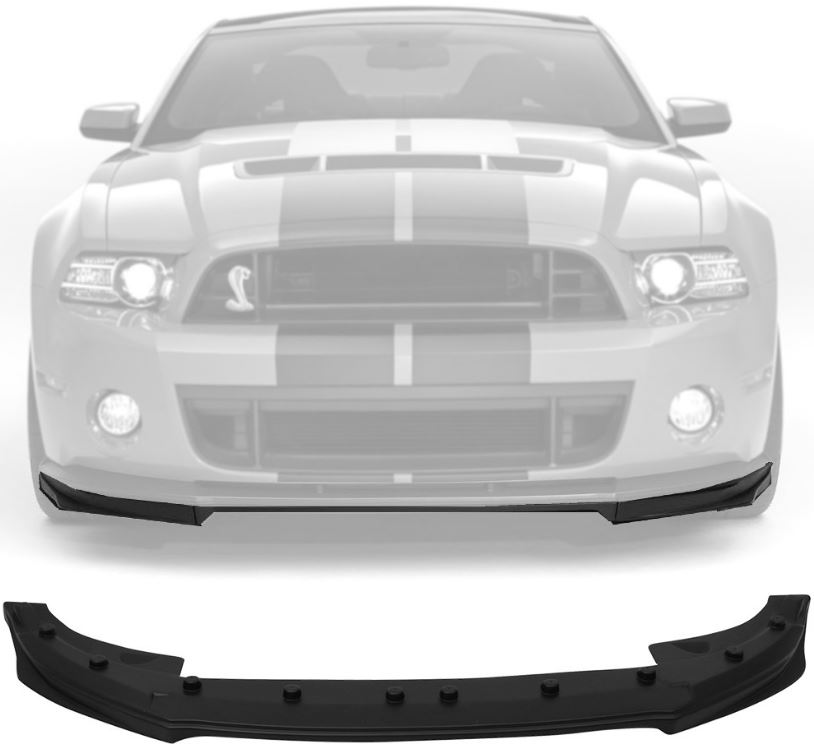2010-2014 GT500 Style Mustang Front Bumper Lower Lip V2 - Polyurethane