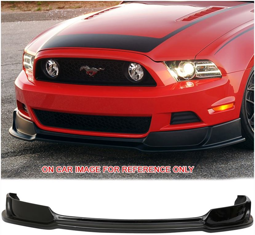2013-14 GT/V6 Mustang Front Bumper Lower Lip R-Style - Polyurethane