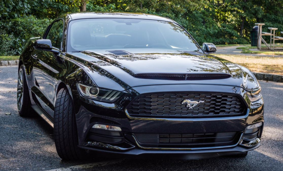 2015-2017 Mustang BLACK MAMBA GTS Ram Air Heat Extractor Hood (Fits all 2015 Models)
