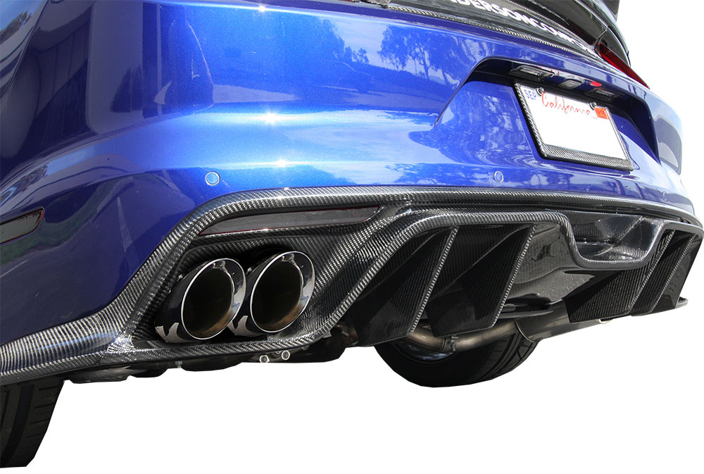 2015-17 Mustang GT 350 Style Rear CARBON Diffuser - CARBON FIBER