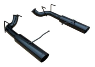 2011-2013 Mustang GT Pype Bomb Axle-Back Muffler Delete System - PHANTOM BLACK - by PYPES