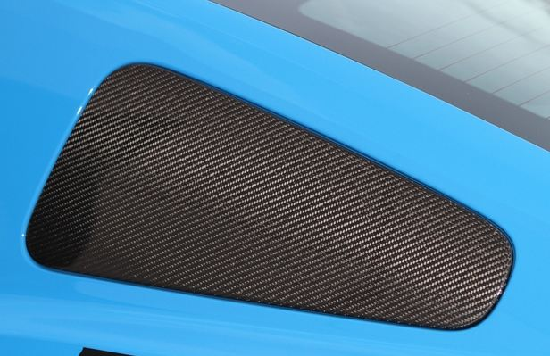 2010-13 Mustang Quater Window Covers - CARBON FIBER