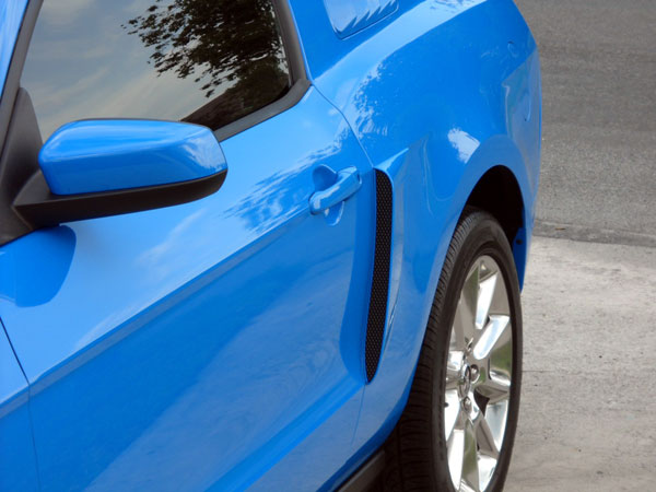 2010-2014 Mustang V6 & GT SALE Lower Door Scoops - ABS PLASTIC (PAIR)