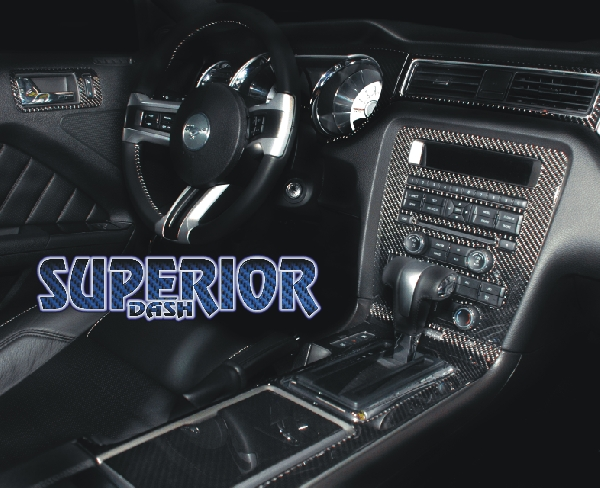2010 2011 mustang 12pc interior kit with optional 6pc upper dash kit for Carbon fiber mustang interior parts