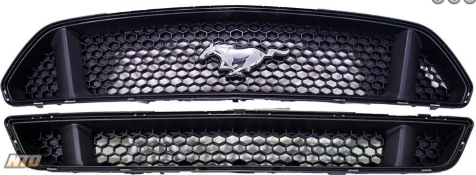 2015 Mustang GT Upper and Lower Grille Set OEM