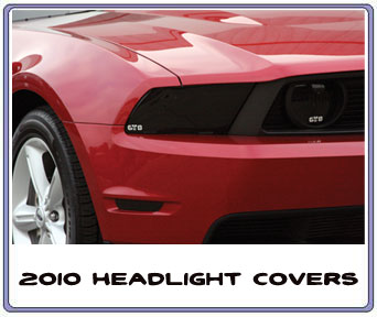 2010-2012 Mustang Headlight Covers GTS SMOKED (Pair)
