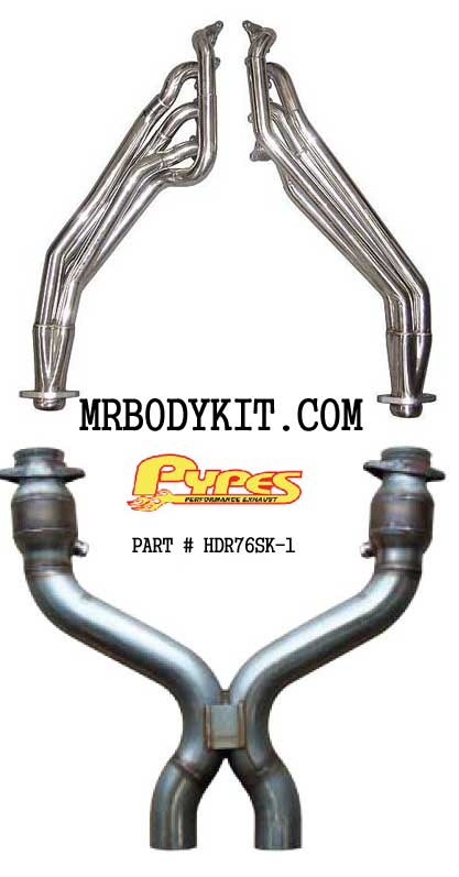 2011-13 Mustang Pypes Polished Long Tube Headers W/Catted X Pipe