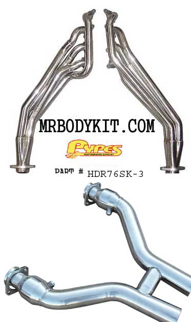 2011-13 Mustang Pypes Polished Long Tube Headers W/Catted H Pipe