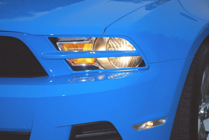 2010-2012 Mustang GT & V6 Headlight Splitters by DG (PRE-PAINTED ANY COLOR)