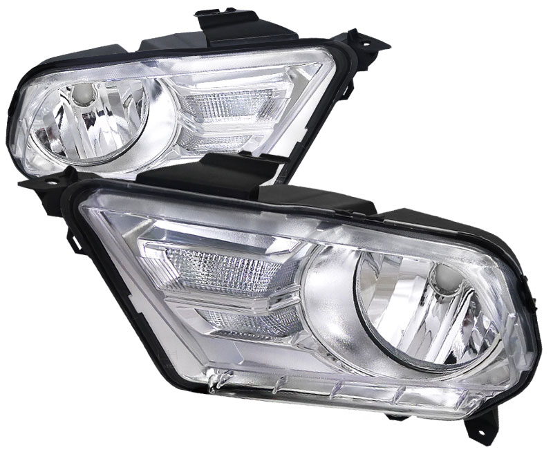 2010-2014 Mustang Headlights GEN X - CHROME CLEAR (Pair)